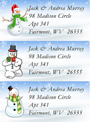Snowy Winter Themed Address Label Sheets