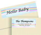 Baby Announcement Wrap Around Sheet Labels