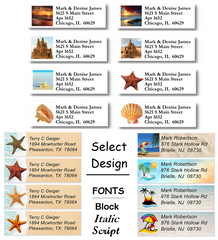 Beach Sheet Labels
