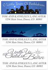 Religious Christmas Address Labels on Sheets