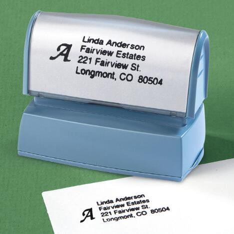 Monogrammed Name and Address Self Inking Stamp