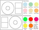 "CD/DVD Sheet Label #115 - 4.64"" - Blank Sheets"