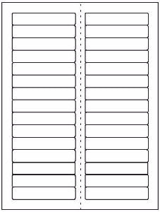 "File Folder Sheet Label #125 - 3.4375"" x 0.667"" - Blank Sheets"