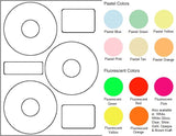 "CD/DVD Sheet Label #155 - 4.52"" - Blank Sheets"