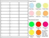 Blank Laser/Inkjet Labels - 30 to 35 per sheet