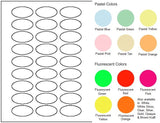 "Oval Sheet Label #280 - 2"" x 1"" - Blank Sheets"