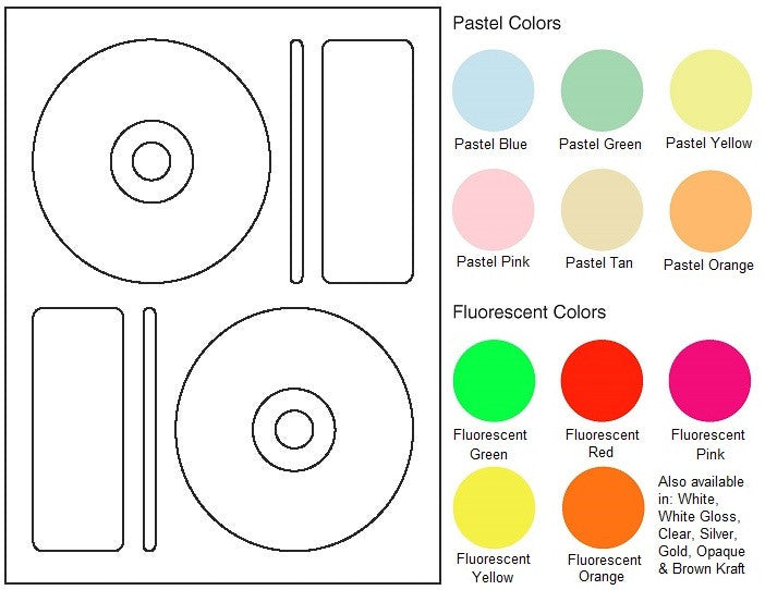"CD/DVD Sheet Label #35 - 4.656"" - Blank Sheets"