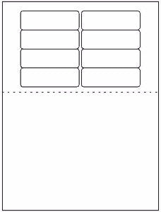 "Multipurpose Sheet Label #365 - 3.1875"" x 1"" - Blank Sheets"