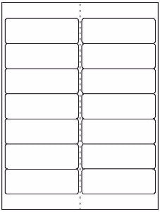"Address Sheet Label #50 - 4"" x 1.33"" - Blank Sheets"