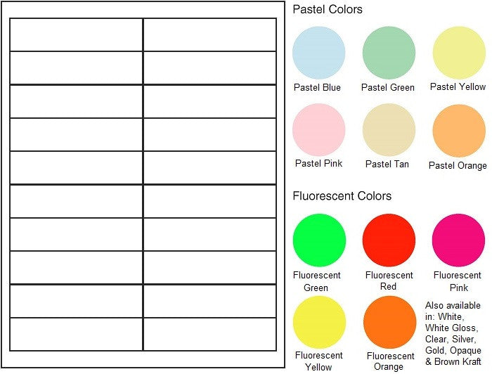 "Multipurpose Sheet Label #500 - 4"" x 1"" - Blank Sheets"