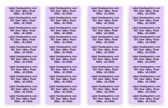 "Sheet Labels - 1.75"" x 0.5"", Up to 3 Lines of Text"