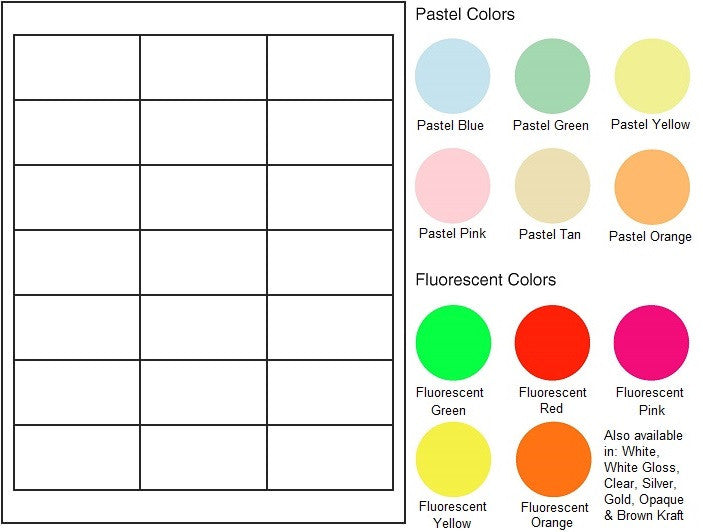"Multipurpose Sheet Label #565 - 2.66"" x 1.375"" - Blank Sheets"