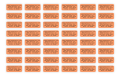 "Sheet Labels - 1.25"" x 0.5"", Up to 4 Lines of Text"