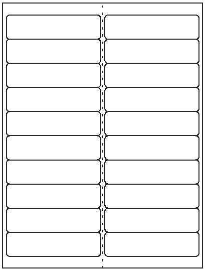 "Multipurpose Sheet Label #90 - 4"" x 1"" - Blank Sheets"