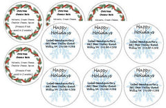 Circle Christmas Sheet Labels