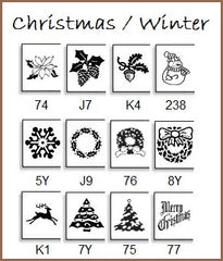 Personalize your labels for Christmas or the winter season.