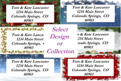 Christmas Border Sheets of Labels