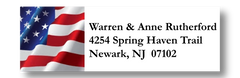 Classic American Flag Address Labels on Sheets