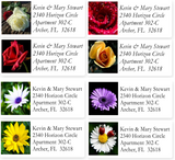 Classic Flower Sheet Labels