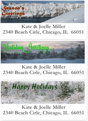 Photo Image Christmas Address Labels on Sheets