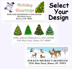 Cute Christmas Address Labels on Sheets