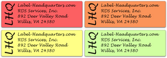 "Edge Monogram Address Label Sheets  (1 7/8"" x 5/8"")"