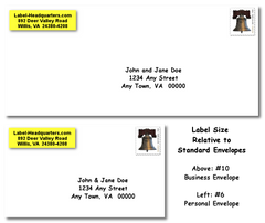 Personalized Roll Address Labels <br>New Larger Size (2 1/2 x 3/4)!