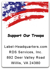 "Patriotic Sheet Labels - 1.75"" x 1.25"""