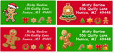 Gingerbread Cookie Variety Sheets of Address Labels