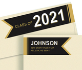 Graduation Wrap Around Diecut Sheet Labels