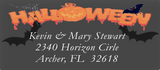 Halloween Sheets of Address Labels