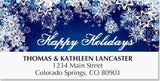 Happy Holidays Snowflake Address Label Sheets