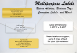 "HM - Traditional Address Label Sheets  (approximately 1 7/8"" x 5/8"")"