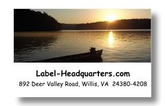 Lake Sunset Address Labels on Sheets