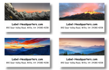 Mountain Sunset Address Labels on Sheets