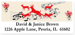 Elegant Christmas Address Labels on Sheets