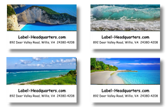 Ocean Address Labels on Sheets