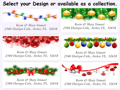 Christmas Ornaments Sheets of Address Labels