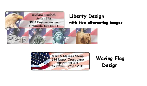 Flag & Patriotic Personalized Roll Address Labels