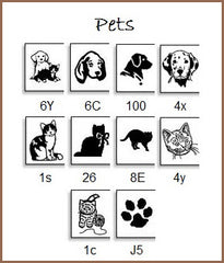 Personalize your labels showing your love for your pet . . . dogs, cats and a paw print.