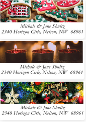 Photo Christmas Labels on Sheets