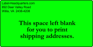 "Personalized Shipping Labels - 2"" x 4"""