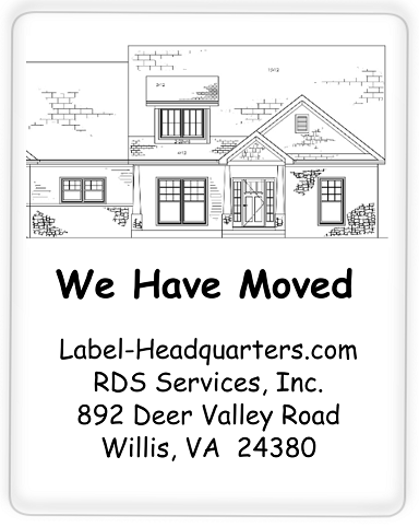 "We Have Moved Labels - 1.75"" x 1.25"""