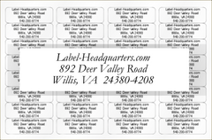Personalized Address Label Sheets