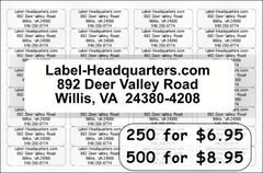 Basic Return Address Labels