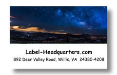 Night Sky Address Labels on Sheets