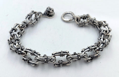Cross Link Bracelet with Lobster Clasp - Large Links