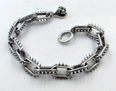 Spike Link Bracelet with Lobster Clasp - Large Links