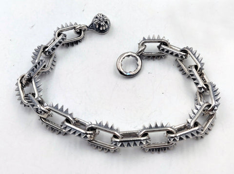 Spike Link Bracelet with Lobster Clasp - Small Links