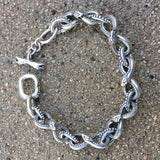 Ouroboros Bracelet With Snake Toggle Clasp - Large Links